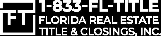 Florida RE Title & Closings, Inc. logo 2020 white